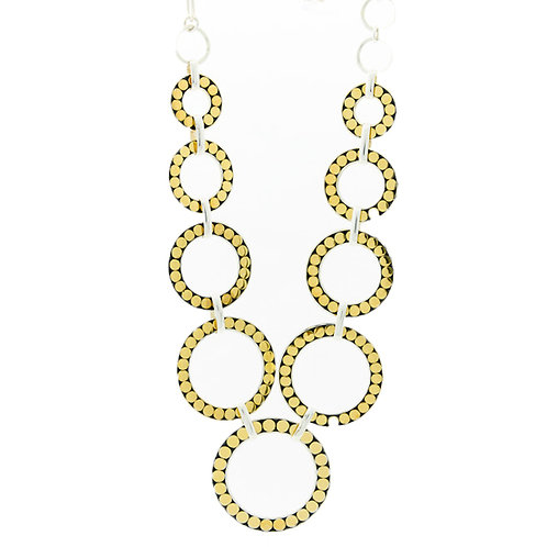 Multi Circle Couture Necklace