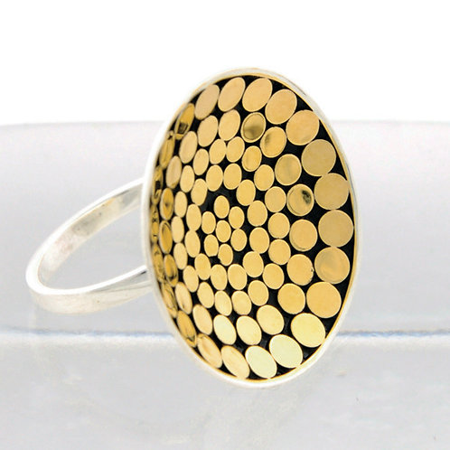 Be A Light Concave Disc Ring