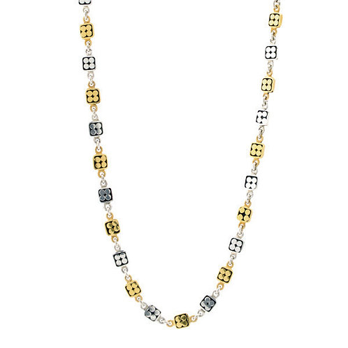 Multi Square Dot Chain Necklace