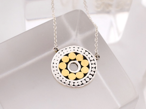 Double Life Solid Circle Necklace