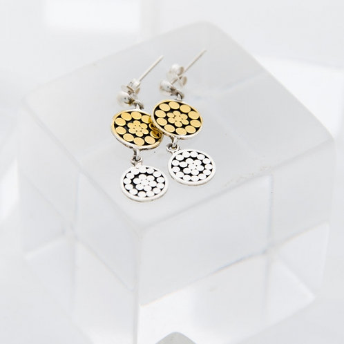 Double Life Disc Post Earrings