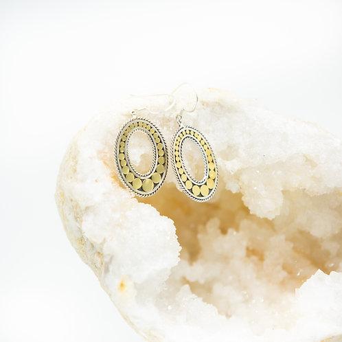 Life Circle Oval Earrings