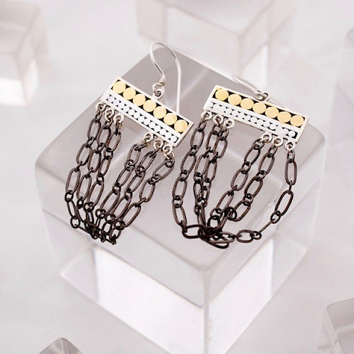 Black Chandelier Earrings (Small)