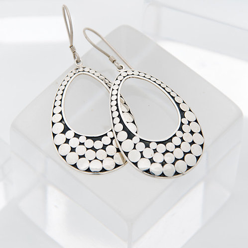 Life Circle Oval Earrings