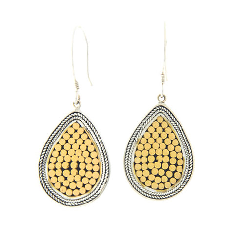 Be A Light French Wrap Teardrop Earrings (Small)