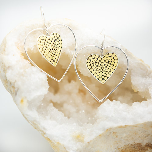 It's What's On The Inside Heart Earrings (Large)