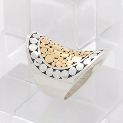 Mixed Metal Saddle Ring