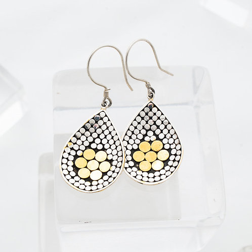 Be A Light Concave Flower Earrings