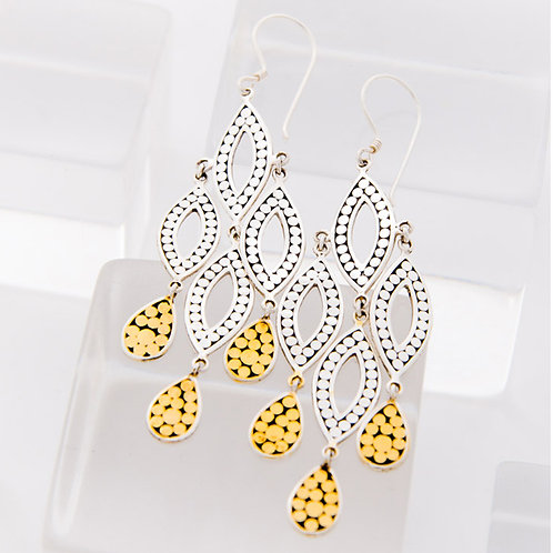 Quadruple Leaf Earrings
