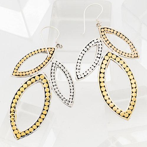 Triple Leaf Earrings