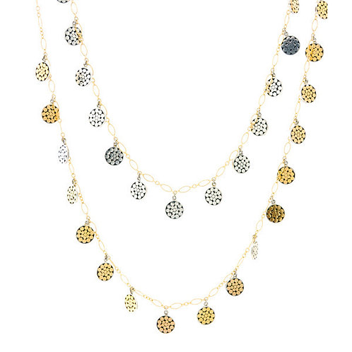 Be A Light Multi Disc Necklace (Long)