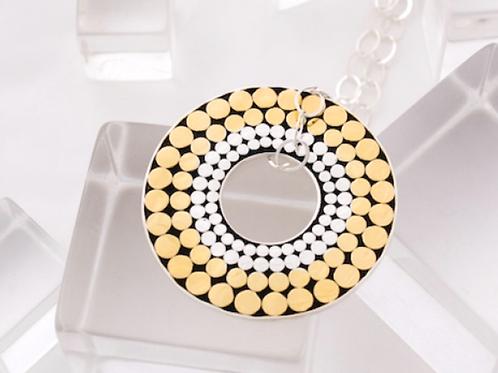 Quadruple Life Circle Solid Necklace