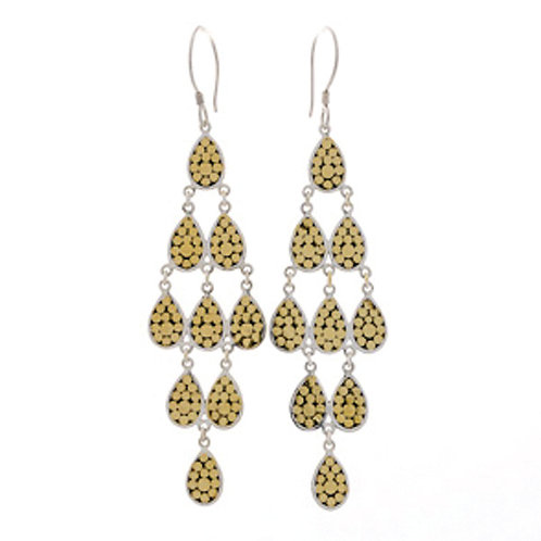 Multi Teardrop Chandelier Earrings