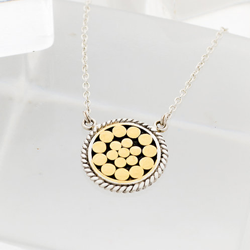 Be A Light French Wrap Disc Pendant