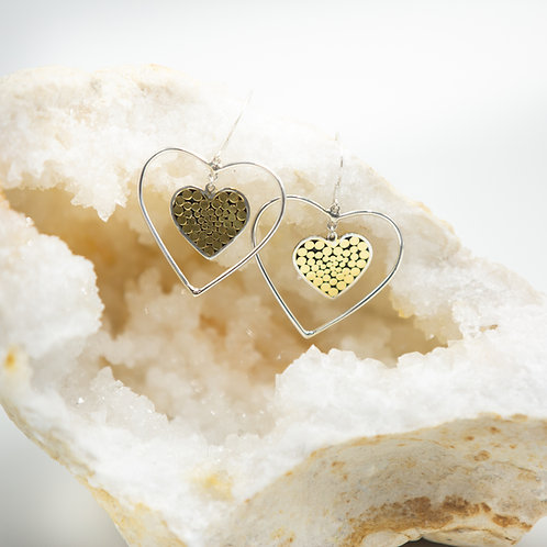 It's What's On The Inside Heart Earrings (Medium)