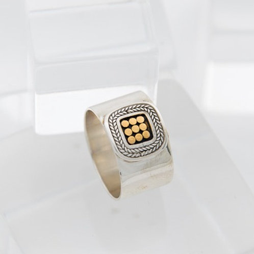 Be A Light French Wrap Square Ring