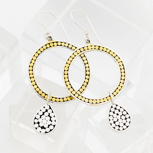 Life Circle with Teardrop Earrings