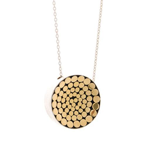 Be A Light Concave Disc Necklace (Medium)