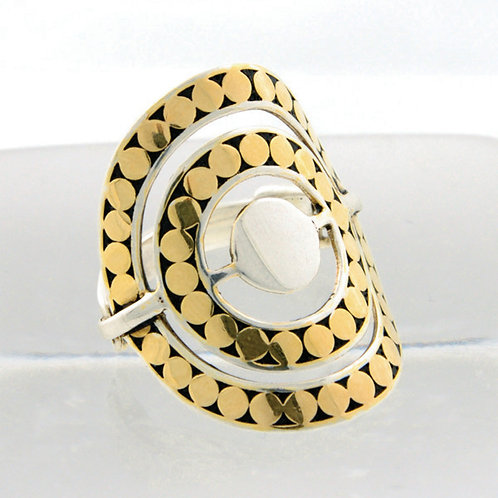 Double Circle Disk Ring