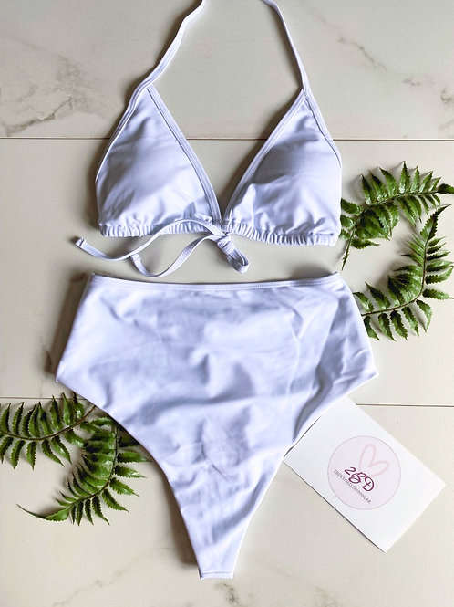 """""""Play It Safe"""" Two Piece Set (White)"""