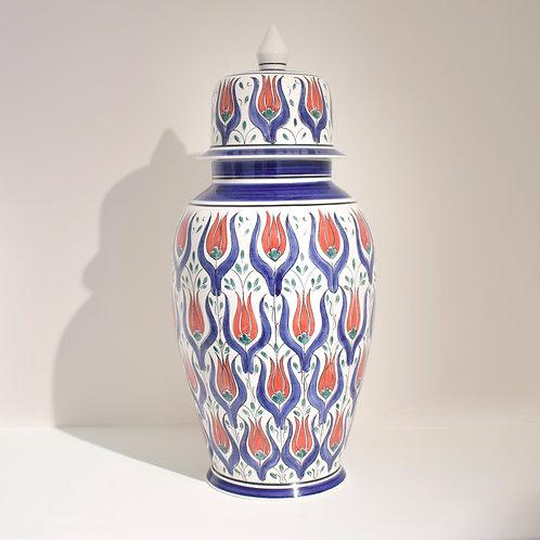 Tall Tulip Iznik Ginger Jar