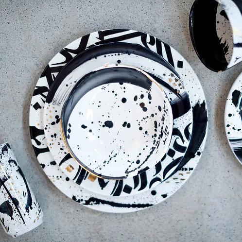 Abstract dessert plate