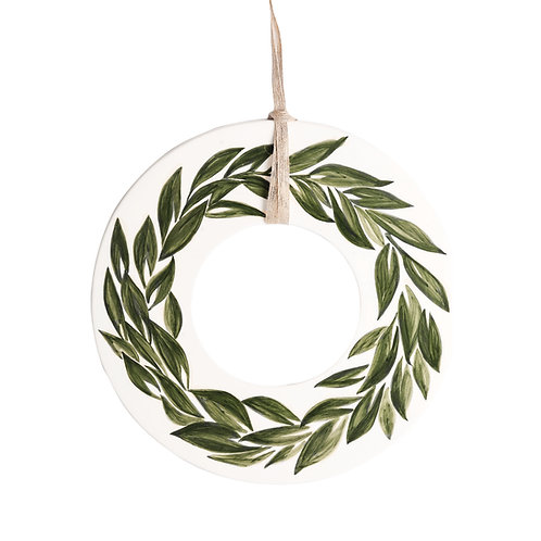 Round Leaves Christmas Ornament