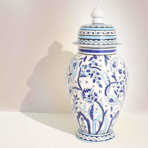 Tall Iznik Ginger Jar