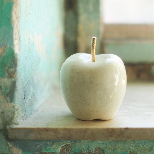 Ceramic apple with copper stem
