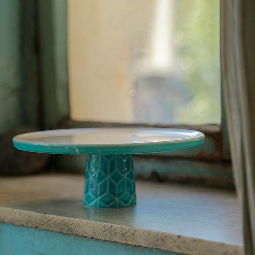 Geometric base cake stand