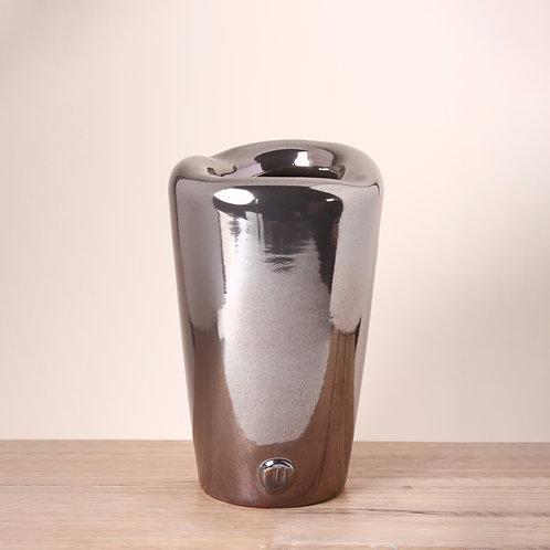 Medium organic metallic vase