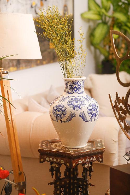 Navy Two Tone  Turath Vase