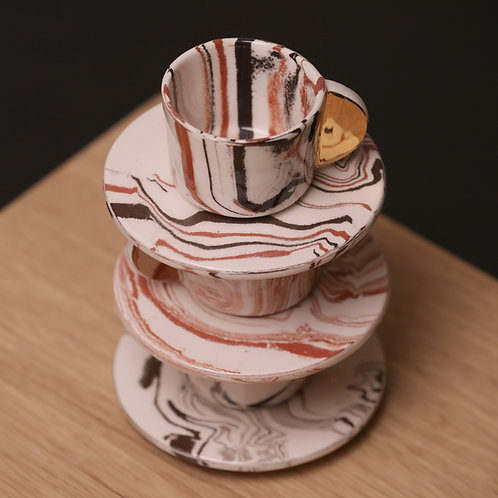 Marbled turkish coffee cup