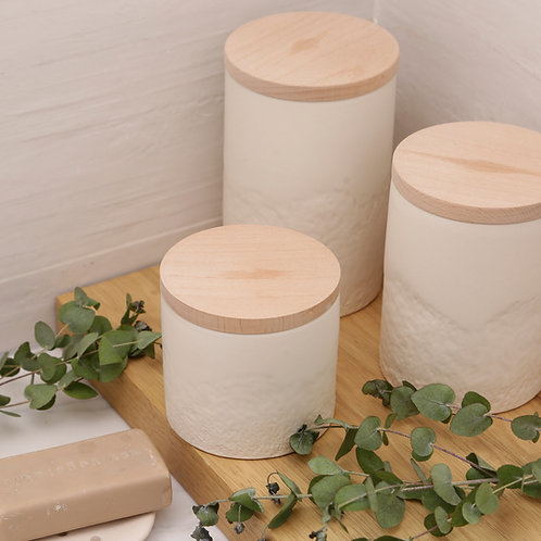 Matte white containers