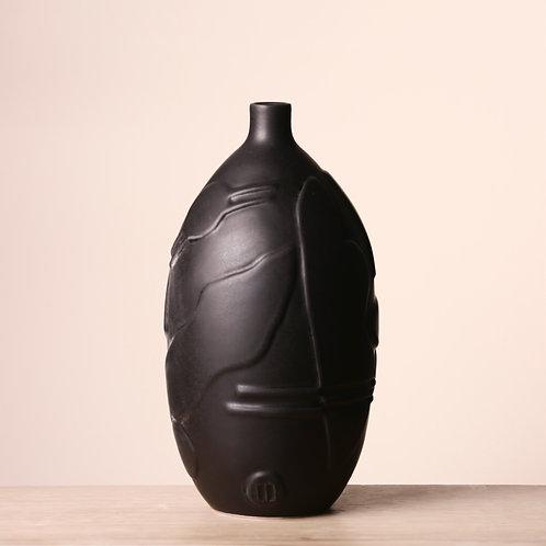 Small matte black vase