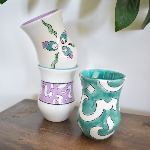 Mix and match tea cups