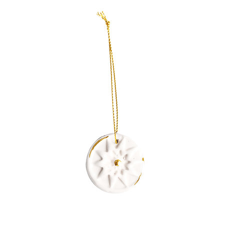 White and Gold Christmas Ornament
