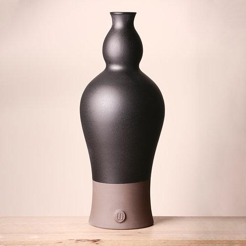 Large matte black vase