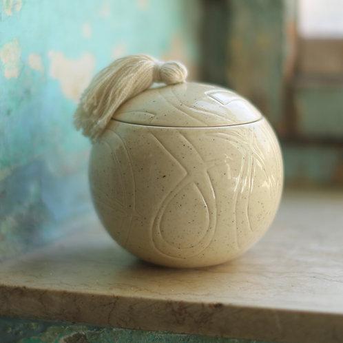 Diwani round ceramic box