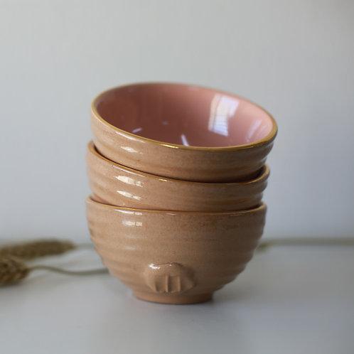 Stamped nut serving bowls