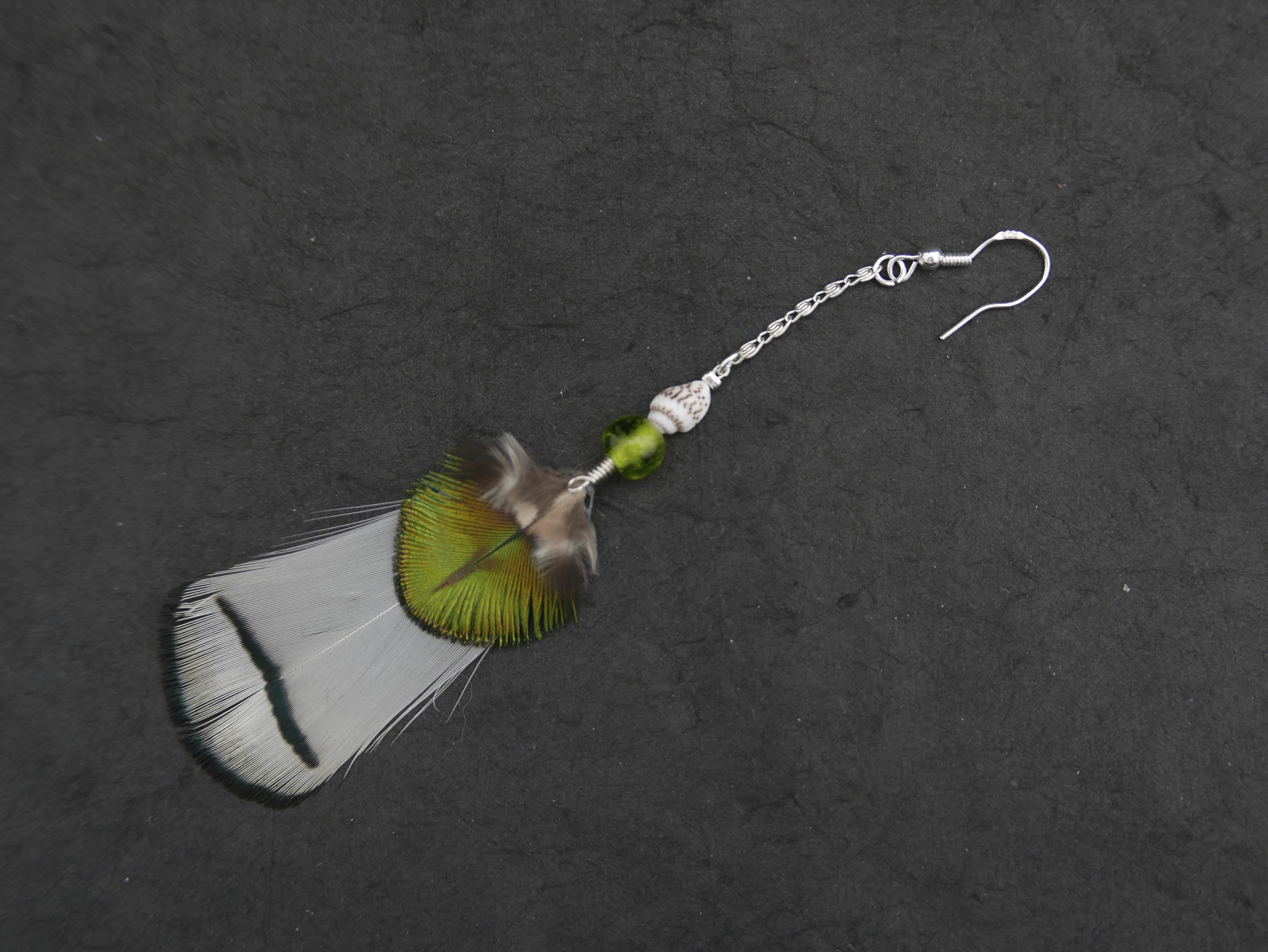 Bijoux-plumes/boucle d'oreille simpl