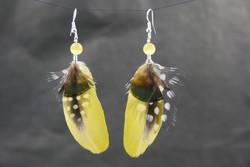 Bijoux-plumes/paires de Boucles d'or