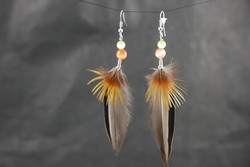 Bijoux-plumes/paire de boucles d'oreilles