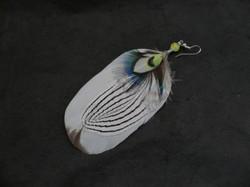 bijoux-plumes/boucle d'oreille simple