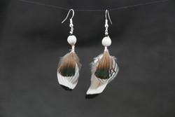 Bijoux-plumes/paire de boucles d'ore