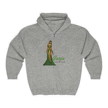 Ganja Goddess Heavy Blend™ Full Zip Hooded Sweatshirt