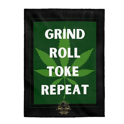 Grind Roll Velveteen Plush Blanket