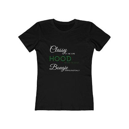 Women's  Classy, Hood, Bougie The Boyfriend Tee