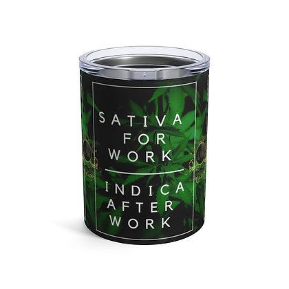 Sativa   Indica Tumbler 10oz