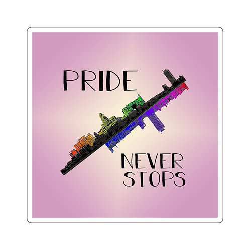 Pride Never Stops Sticker
